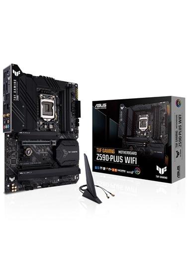 Asus Tuf Gamıng Z590-Plus Intel Z590 Lga1200 Ddr4 5000 Dp Hdmı 3X M2 Usb3.2 Aura Rgb 2.5Gb Intel Atx 128Gb'A Kadar Ram Desteği, İki Yönlü Aı Ses Eng Renkli